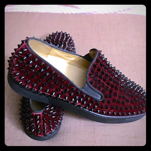 various colors cb787 4a1de 100% Authentic Louboutin Men spikes sneakers